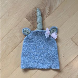 Mud Pie unicorn hat. Worn once. 0-3 months.